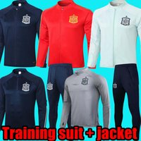 2021 Spanien Training Anzug Jacke Langarm Kurzarm Kit Männer Anzug Training Tragen Sie Football Jersey