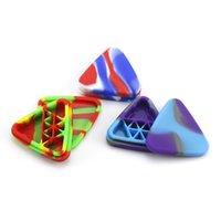 Nargile üçgen şekli diğer sigara içme aksesuarları için silikon kaplar renk değişir Rengi kırılmamış konteyner toptan kutusu 1.5ml