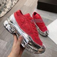 حذاء رياضة الأحذية Originals RAF سيمونز Ozweego III الرياضة الرجال النساء clunky المعدنية الفضة حذاء رياضة dorky عارضة الأحذية حجم 36-45 # 2021 #