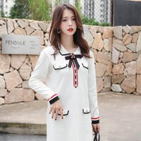 Fashion Products Summer Xiaoxiangfeng Neck Bow Long Sleeve T...