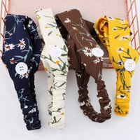 Knopf Daisy Hair Band Sport Yoga Elastic Cross Solide Farbe Party Gestrickte Stirnband Fema Frauen Zubehör GWE5455
