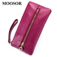 Coin Purses Women Wallet Genuine Leather Purse Travel Organizer 5 Colors Storage Bag Key Holder Day Clutch Card Holders DC326