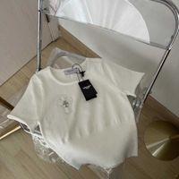 Chrome / Hearts 2021 Net Red New Cross Leather Label Shirt da donna Summer Summer Slim sottile bianco manica corta