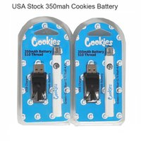 USA STOCK Cookies Vape Carts Battery Blister Packaging 350mah Ecig Starter Kit 510 Thread Variable Voltage Rechargeable Batteries with USB Charger