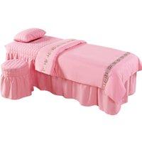 4шт / набор салон красоты постельное белье для постели постельного белья кроватный массаж спа-одеяла крышка кровати для одежды для одеяла наволочка