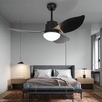 Ventilatore a soffitto con luci Illuminazione LED Light Light Light Velocità del vento Telecomando da 48 pollici