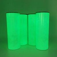 2021 Leuchtende Sublimation Leeres Kaffeetassen 20 Oz Stroh, Tasse Tragbare Wasserflasche mit Packungsbox