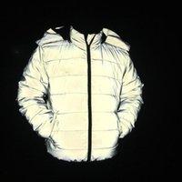 남자 다운 파카 겨울 코트 남성 / 여성 반사 가벼운 자켓 방풍 스탠드 코튼 패딩 따뜻한 두꺼운 후드 지퍼 여성 탑 코트 안녕하세요