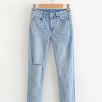 HY63-8670 European And American Fashionable Furry Jeans Women's