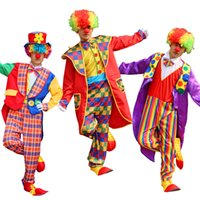 Funny Clown Costumes Cospaly Clown Clothes Suit 548 Circus Costume Men Women Joker Costume Christmas Halloween Masquerade Party Dress
