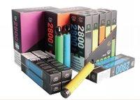 Randm Flex 2800+ Puffs PODs Pre-Cheios Style Style E Cigarros Portáteis Descartáveis Vape Caneta Integrada 1000mAh Bateria 8.5ml E-Liquid 12 Cor