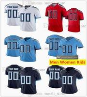 Dikişli Futbol Jersey 2 Julio Jones 31 Kevin Byard 22 Derrick Henry 77 Taylor Lewan 17 Ryan Tannehill 11 A.J. Kahverengi erkek kadın çocuklar