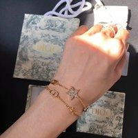 D Família Gold CD letra dupla camada pulseira para as mulheres