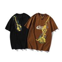 Marca Travis Travis Scott Cactus Jack T Shirt Rayo Imprimir Espuma Manga corta Hombre y camiseta casual de las mujeres Pareja Tops