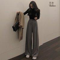 Women's Pants & Capris tough women's trousers, broad legs, total length, casual, simple, high quality, spring, autumn, L8K8