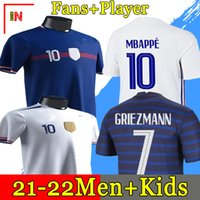2020 MBappe Griezmann Pogba Giroud Kante França Jerseys 2021 Home Away Jersey Football Shirts Adulto Men + Kid Kit