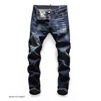 DSQ\rmens luxury designer jeans black ripped skinny biker motorcycle pants pour hommes skinny DSN19 men s hip h ooa\rDSQ\rDSQ2& aKr