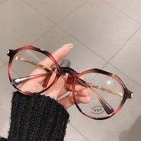 높은 품질 2021 유행 안티 블루 라이트 라운드 안경 프레임 컴퓨터 여성 차단 게임 금속 PC 안경 세련 된 패션 선글라스 프레임