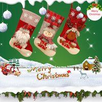 Christmas Decorations Sock Gift Pocket Santa Claus Snowmen Decoration Tree Pendant Candy Socks Ornaments Indoor Festive Party Supplies