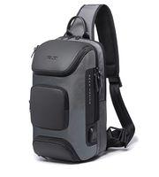 Moda Mężczyzna Anti-Theft Sling Bag Crossbody Plecak Ramię Casual Daypack Black Gray