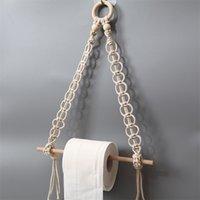 2 шт. Nordic Macrame Стена висит деревянная палка туалетная бумага держатель полотенца вешалка декор 2138 v2