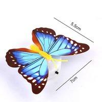 Pegatinas de la pared de la mariposa colorida Fácil instalación Luz de noche Lámpara LED LIGHT HOGAR LIVIR LIVIDUAL HECHO FRIGO DE DORME DE DORMACION CCF5787