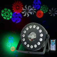 RGB 15 LEDs+Pattern Projector effect Light LED Stage Wash Pattern 2in1