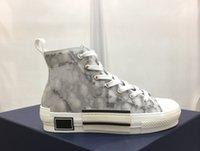 Venta al por mayor Hermosa Moda B-23 Casual Zapatos Hombres Mujeres Tecnología oblicua Tamaño de la lona 35-45 con caja