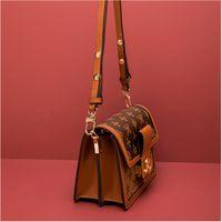 Postman Sumbaging One-Pheck Crossboby Bag модная многослойная цепь напечатанный Crossbody женская сумка