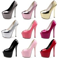 2019 Platform Pumps Women Sexy Extremely High Heels 15CM Female Bridal Stiletto Ladies Wedding Party Shoes Gold Pink