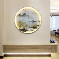 Wall Lamp BROTHER Lamps Modern Landscape Painting LED Sconces Round Light Creative For Home Bedside