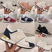 2021 Новые роскошные кожаные повседневные туфли бегут женщин дизайнерские кроссовки мужчины обуви подлинной кожи моды смешанный цвет оригинальная коробка 35-44
