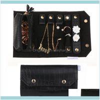 고리에 대 한 포장 디스플레이 보석 보석 케이스 귀걸이 목걸이 휴대용 롤 여행 주최자 상자 Aessory 파우치, 가방 드롭