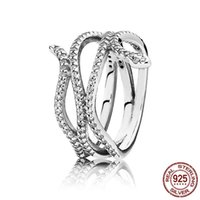 Cluster Rings 2021 Summer 925 Sterling Silver Serpentine Snake Cross For Women CZ Wedding Engagement Jewelry Gift Fine