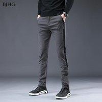 Primavera Autunno Moda Slim Fit Pantaloni Casual Pantaloni da uomo Abito dritto Elastico Business Business Suit Pantaloni Skinny For Man Uomini