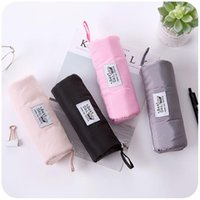 Pencil Bags Korean Sandwich Mesh Storage Case Student Solid Color Simple Large-capacity Stationery Bag Cute Pouch