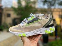 [Mit Box] 2021 Reaktionselement 87 55 MESUNs Womens Laufschuhe Undercover Mesh Atmungsaktive irisierende Vision Sporttrainer Outdoor Sneakers Größe 36-44 # 8755