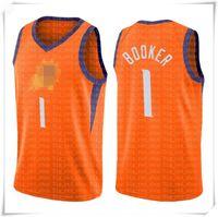 2021 devin 1 Booker Jersey Chris 3 Paul Trikots Steve 13 Nash Retro Mesh Basketball