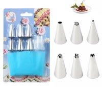 2021 8pcs set Icing Nozzle Cream Piping Bag Set Russian Piping Tips DIY Cake Decorating Tip Sets Pastry Tools Bakeware Kitchen Accessories