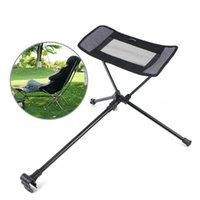 Chaise pliante Foottool rétractable pour la pêche Portable Deck Extension Tabouret Tabouret Moon Set Camping Equipment Accessoires
