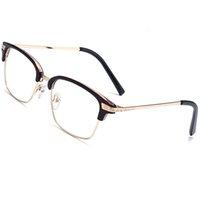 Солнцезащитные очки отпечатки пальцев ретро прозрачные линзы женщин полурамный кадр бренда дизайнер Goggle Eyewear анти синий свет стекла покупки мужчин