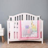 Bambino Organizzatore di cotone Ellie Friend Friend Bedding Set Set da letto 7pcs Cuna Quilt Bed Brucchio Born Born Set