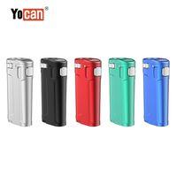 Original Yocan Uni Twist Box Mod 배터리 650mAh 조정 가능한 전압 높이 Vape 예열 모드 510 두꺼운 오일 카트 기화기