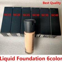 Marca Fundación líquida 6Color SPF15 NC15 NC20 NC25 NC30 NC35 NC40 35ML Corrector