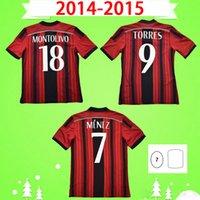 2014 2015 Retro Jersey de fútbol Vintage Camisa de Fútbol 14 15 Classic AC MAGLA DA Calcio Torres Kaka Milán El Shaarawy Ibrahimovic Fisker Menez