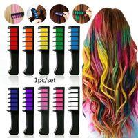 10 couleurs 1 pc de cheveux non toxiques peigne peigne temporaire colorant couleur Soft Pastels Salon Fashion Accessory Outils