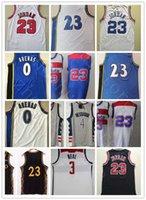 Wholesale Basketball Hommes Bradley 3 Beal 4 Beal 4 Westbrook Jersey Nouveau Gris Rouge Bleu Bleu Bleu # 23 MJ Vintage rétro Vintage classique Gilbert 0 Arenas Shirts