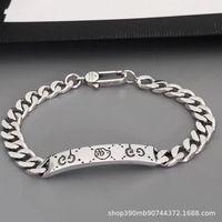Factory Outlet Gujia skeleton Bracelet double g925 Sterling Silver elf Xiaozhan same bracelet for men