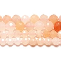 Natuurlijke Hard Facet Pink Aventurijn Ronde Losse Kralen Strand 6/8 MM voor Sieraden DIY Maken Ketting Armband