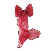 1 PCS Bonito Bowknot Long Ribbon Lace Ornament Grampos De Cabelo Barrettes Crianças Cabelo Cabelo Cabeleireiro Cor Sólida Meninas Acesso W7L7 Acessórios